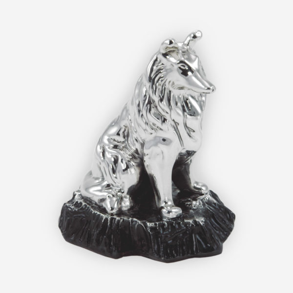 Collie Dog made by electroforming process dipped in silver .999