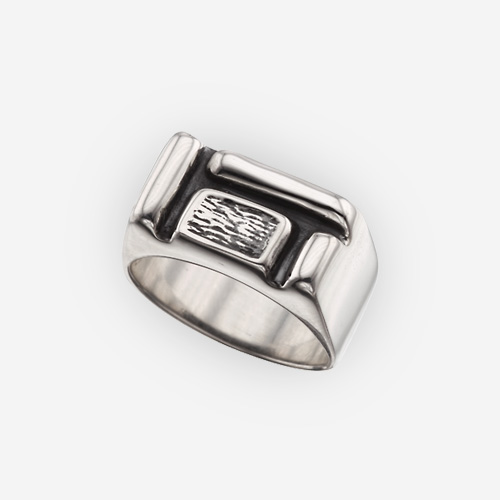 Multi-Block Ring Casting in Sterling Silver