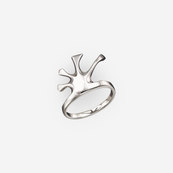 Ring Art Deco Style Casting in Sterling Silver