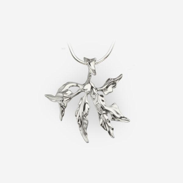 Floral Fantasy Pendant Casting in Sterling Silver