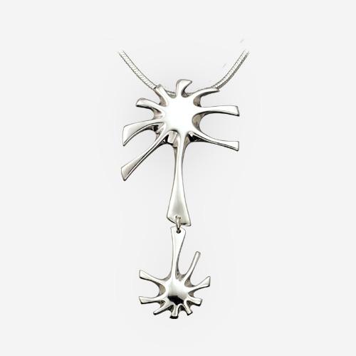 Deep Plunge Sterling Silver Pendant