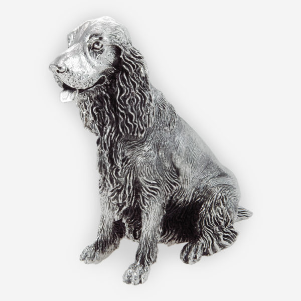 Cocker Spaniel Sculpture made by electroforming process dipped in silver .999
