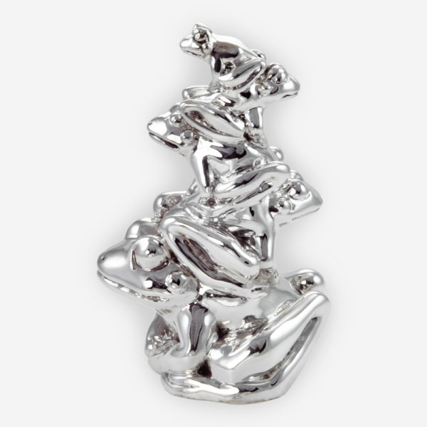 Fortune Frogs made by electroforming process dipped in silver .999