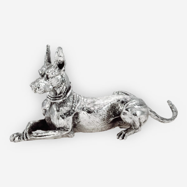 Great Dane made by electroforming process dipped in silver .999