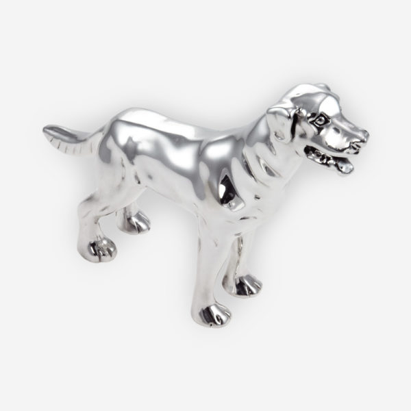 Labrador Sculpture made by electroforming process dipped in silver .999