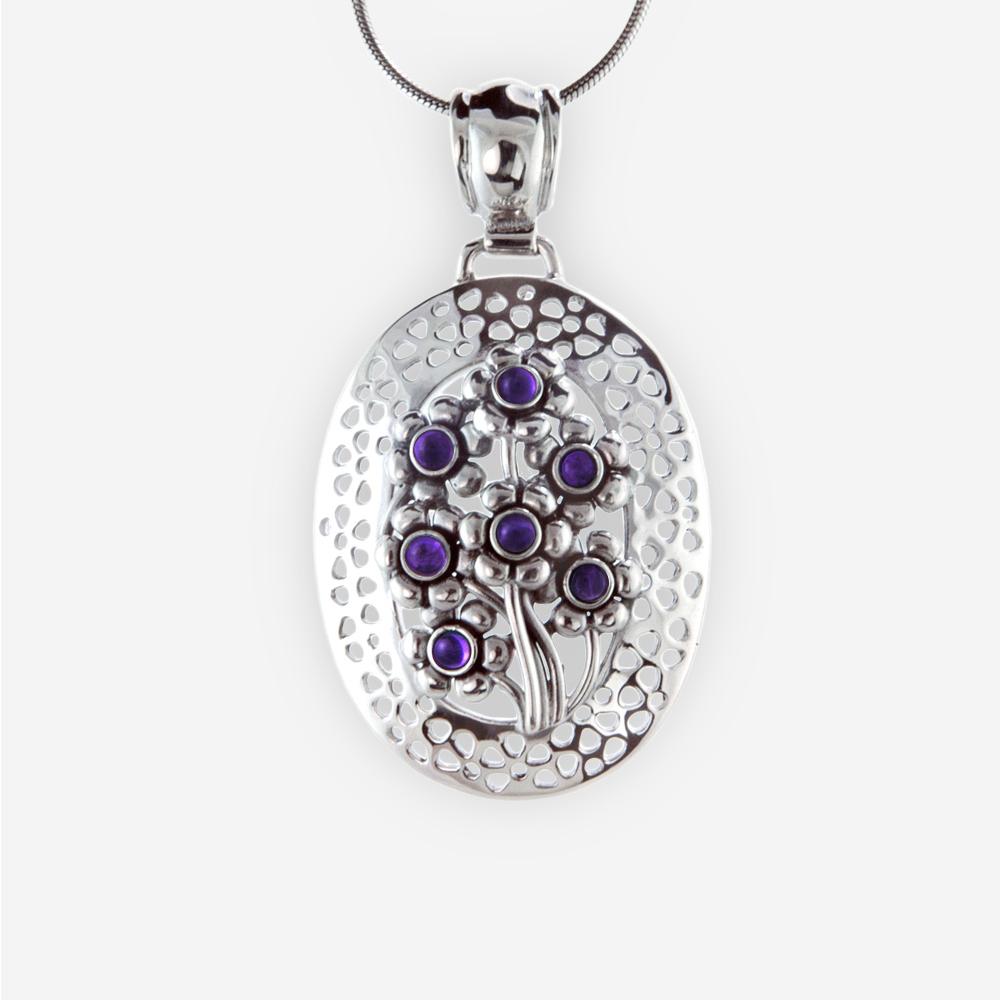 Pendiente precioso con piedra preciosa occidental oval que ofrece diseños de flores hecho a mano de plata fina 925.