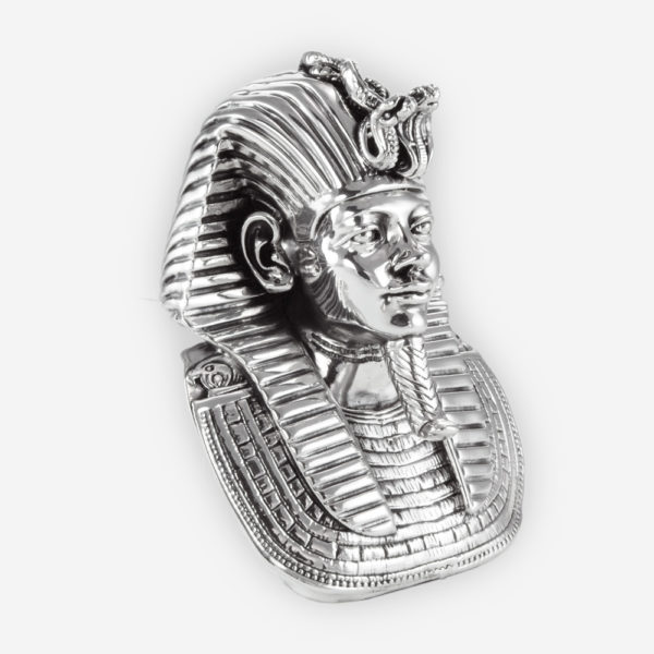 Busto en Plata de un Faraón Egipcio, hecha mediante proceso de electroformado.