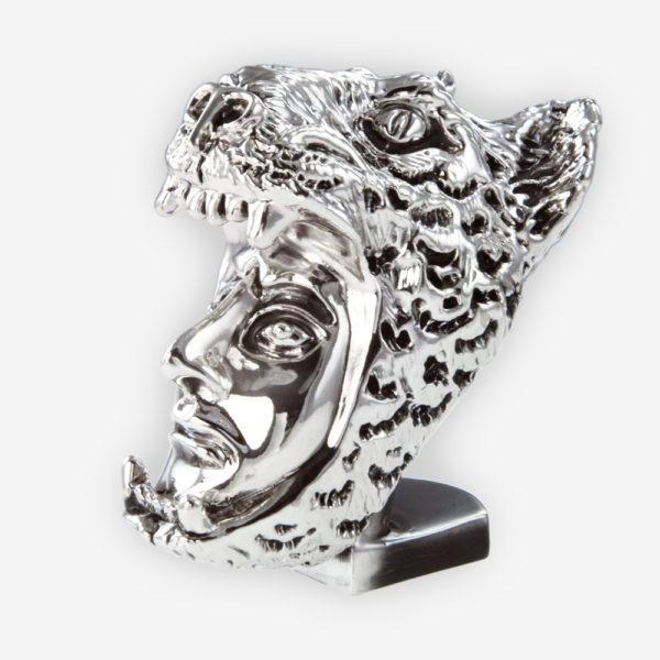 Máscara de Caballero Jaguar en Plata, hecha mediante proceso de electroformado.