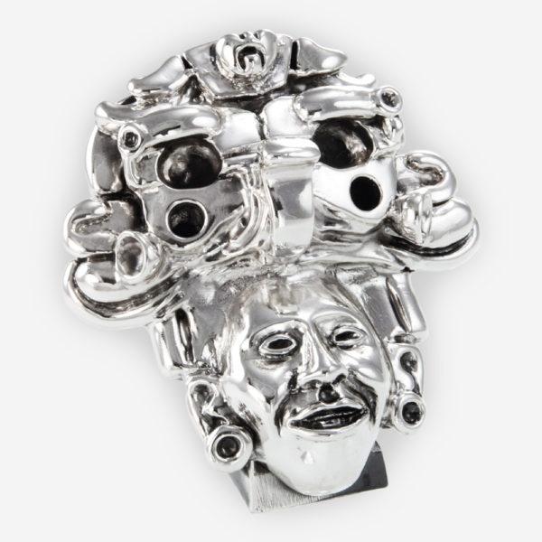 Máscara Sonriente Prehispánica, hecha mediante proceso de electroformado.