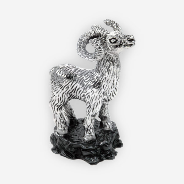 Ram Silver Sculpture, made by electroforming process dipped in silver .999