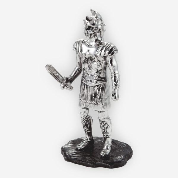Gladiator Sculpture made by electroforming process dipped in silver .999