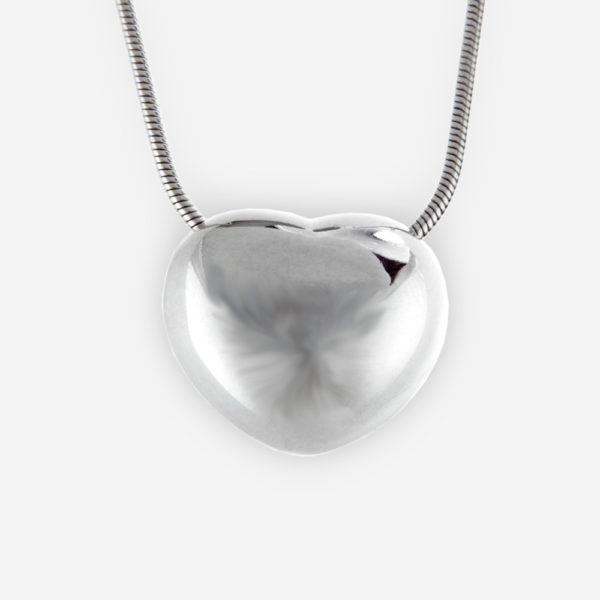 Heart Charm Pendant, in sterling silver.