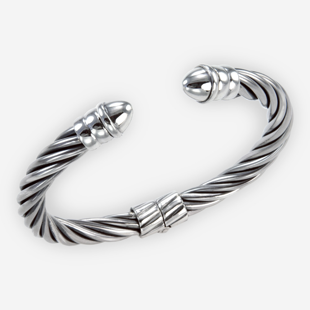 The Silver Twisted Bracelet, in sterling silver.