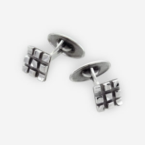 Chess Board Cufflinks Casting in Sterling Silver