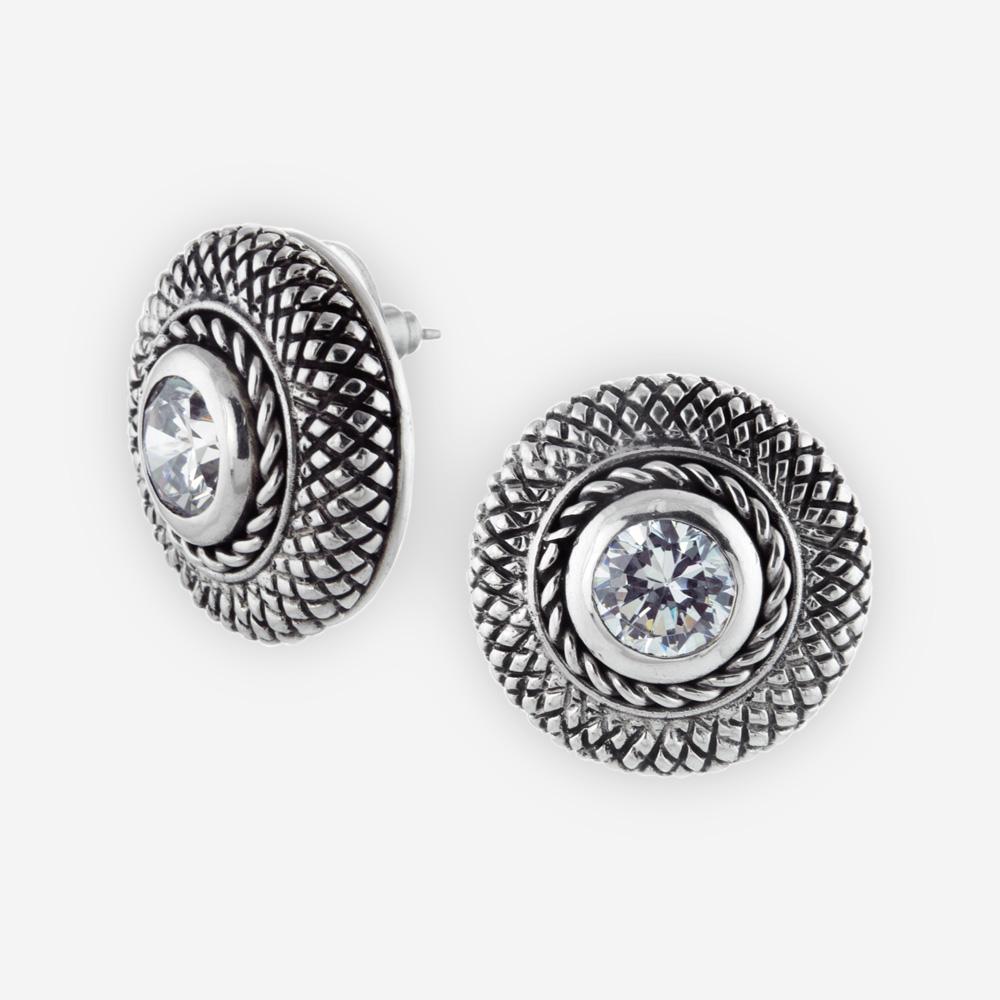 372e2a6cdd73 Aretes Cookie de Plata .925 y Zirconia Cúbica - Zanfeld Jewellery