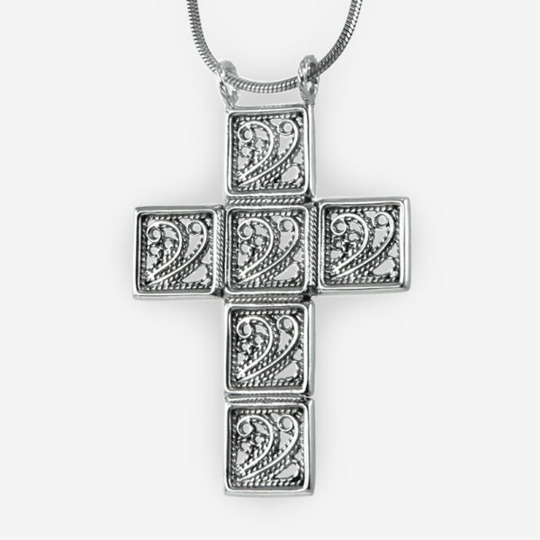 Filigree Cross Pendant Casting in Sterling Silver