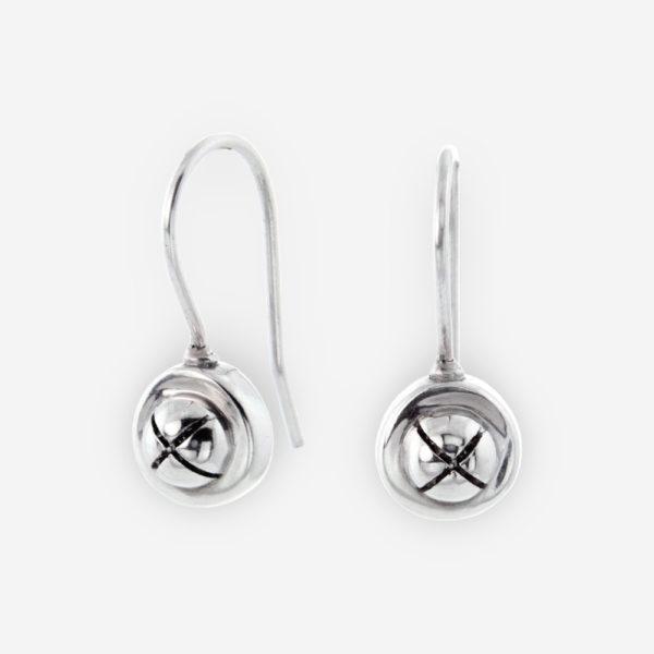 Jingle bell Dangle Earrings made by Sterling Silver.