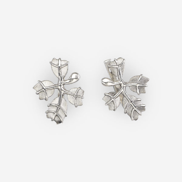Leaves Earrings Casting in Sterling Silver