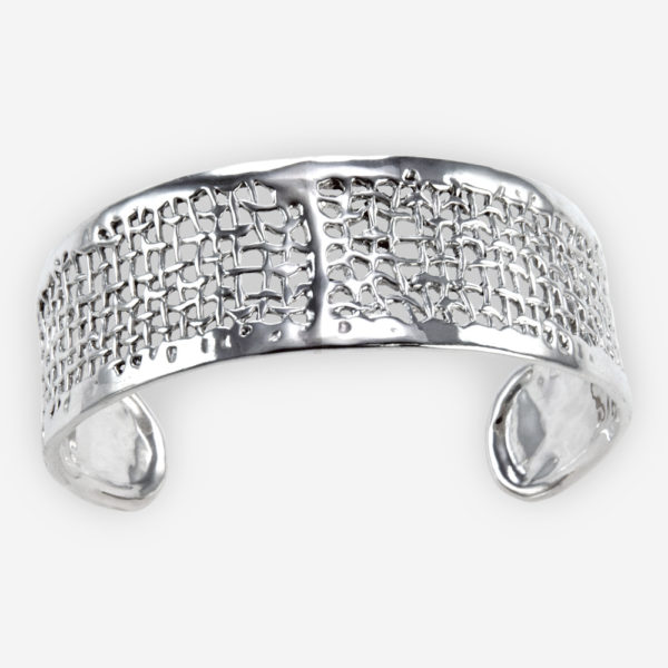 Organic Mesh Cuff Bracelet Casting in Sterling Silver