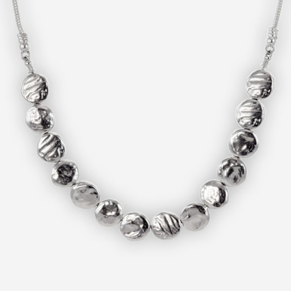 Organic Necklace Casting in Sterling Silver