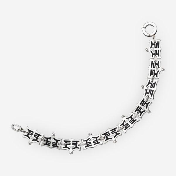 Pagoda Bracelet Casting in Sterling Silver