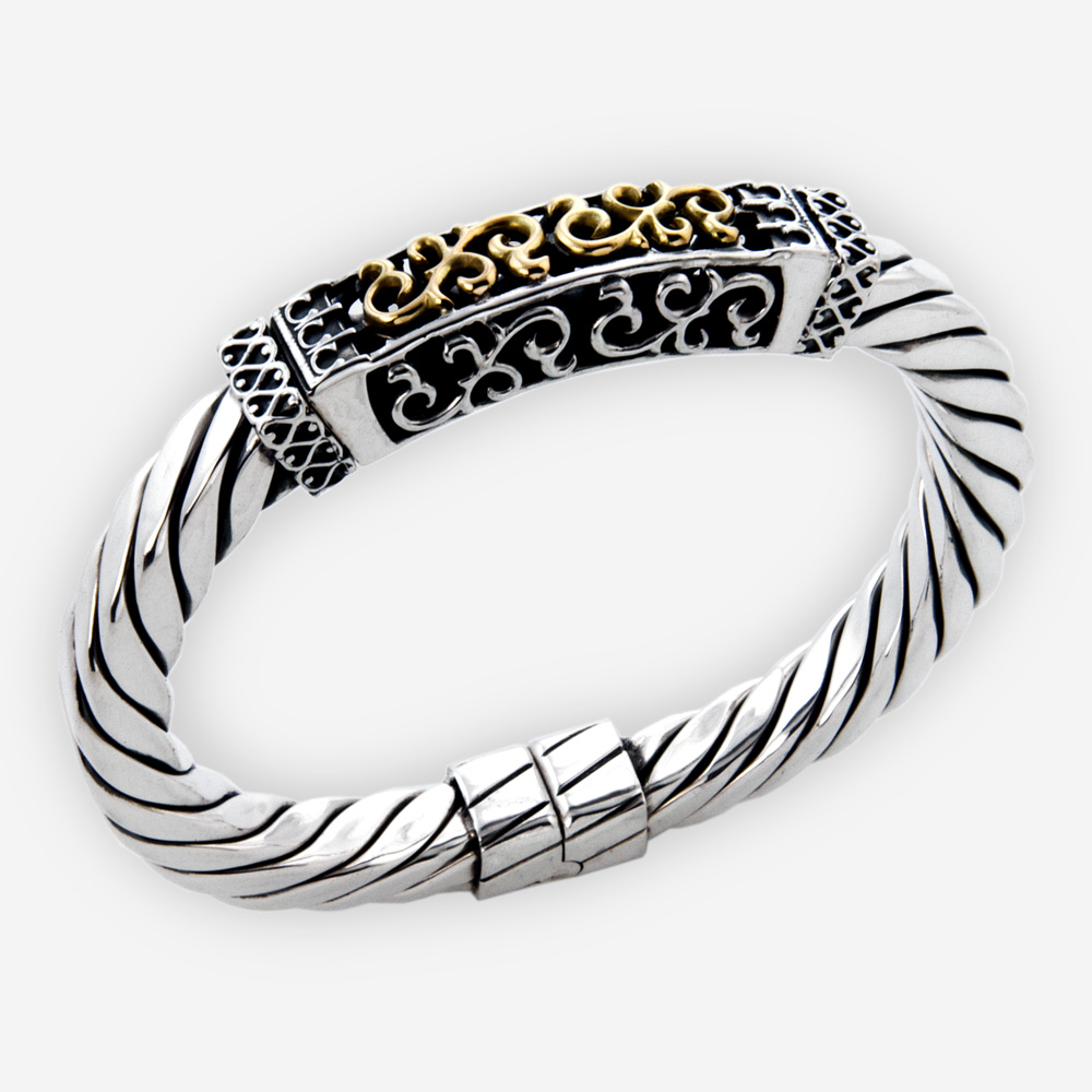 and s jewelry elephant bracelet plate metallic lyst silver diamond at women macys love ct tone bangles tw sterling two in only wrapped bangle for open created gold